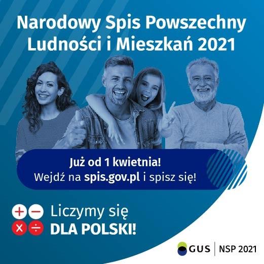 """Plakat promujący akcje """"Narodowy spis powszechny"""""""