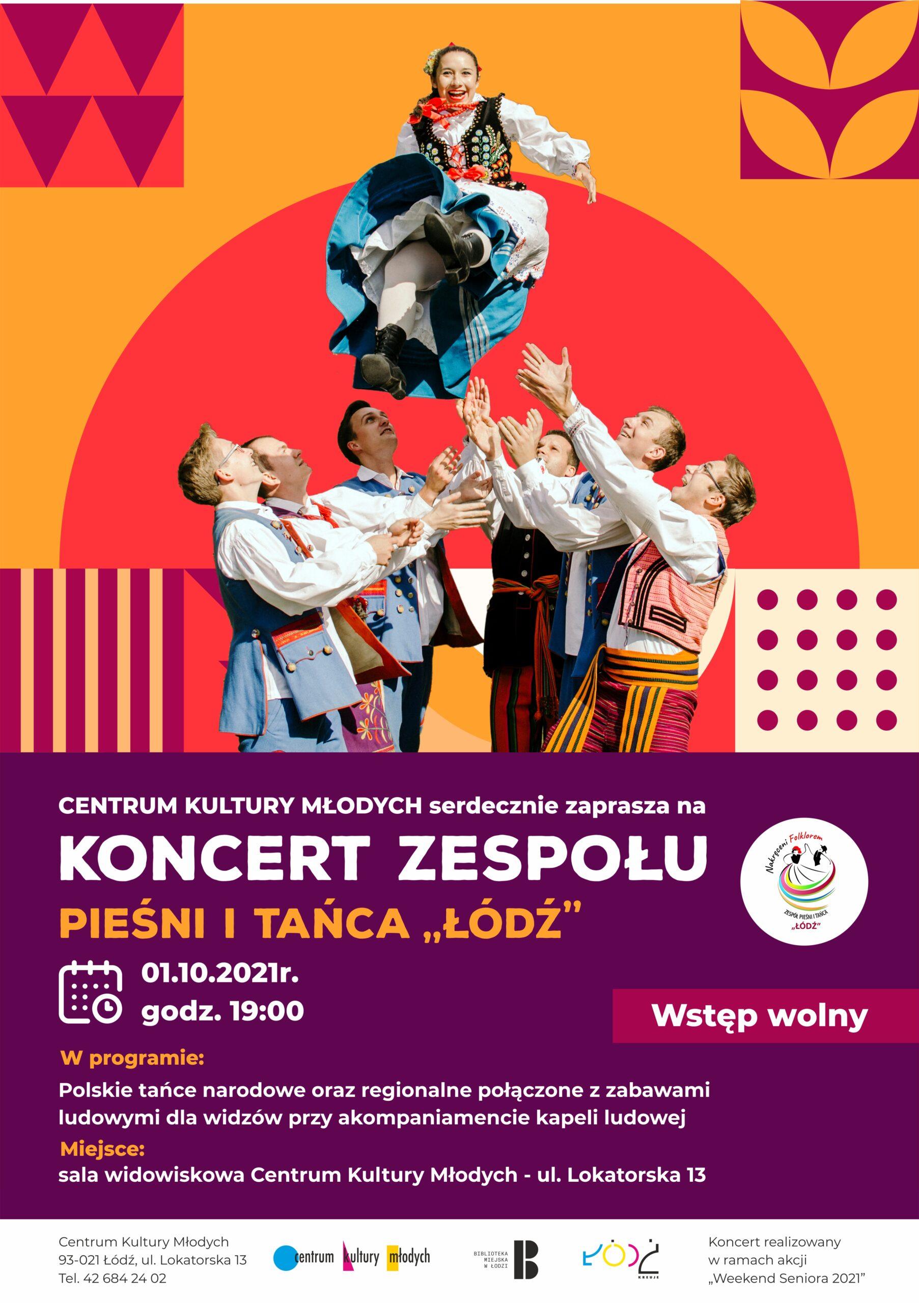 koncert zespołu pieśni i tańca Łódź plakat